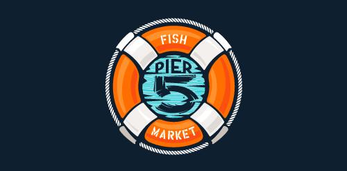 Pier 5 Fish Market – full lockup