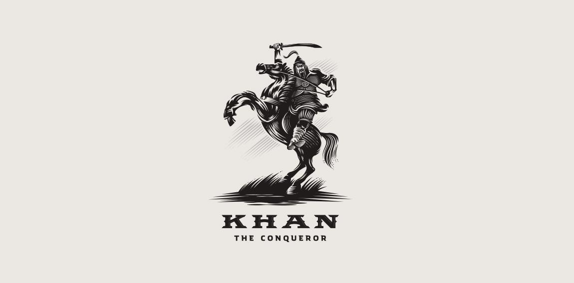 khan the conqueror logomoose logo inspiration