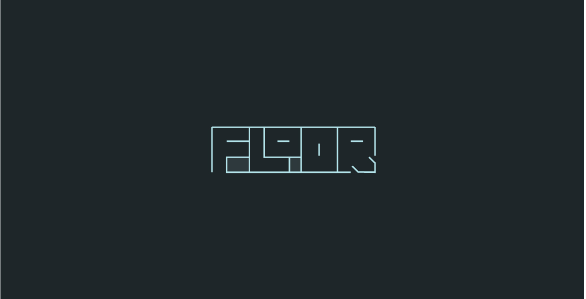 Clever Logo Floor wordmark / verbicon